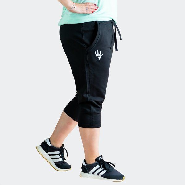 4STREATZ® Ladies 3/4 Jogging Pants SCHWARZ